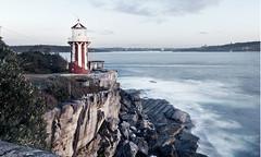 Lighthouse (Aurorajane) Tags: light shine show guide beacon tall stand rocks cliff headland sydney sea ocean tide tidal salt saltwater ships sail nsw