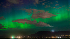 Aurora Borealis Over Vancouver BC (photosauraus rex) Tags: sky night northernlights auroraborealis auroraborealisovervancouver vancouver bc canada northernlightsovervancouverbc cypressmountain westvancouver