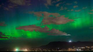Aurora Borealis Over Vancouver BC