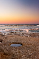 Hole In The Rocks (k009034) Tags: 500px waves australia caloundra copy space pacific queensland tranquil scene beach evening hole nature no people ocean oceania rocks sky sunset travel destinations water teamcanon