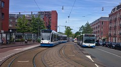 Amsterdamse Trameindpunten IV (Peter ( phonepics only) Eijkman) Tags: city holland netherlands amsterdam transport nederland tram trams noordholland gvb tramtracks combino