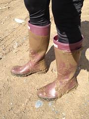 Hunters in mud (jazka74) Tags: original wet fun mud boots rubber use hunter wellies