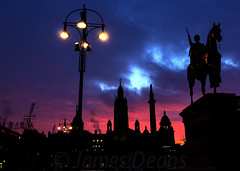 George Square Glasgow 20 January 2015-0013.jpg (JamesPDeans.co.uk) Tags: light sculpture art history weather silhouette statue sunrise scotland lowlight europe unitedkingdom glasgow georgesquare queenvictoria lightshade equestrianstatue nighttimeshot timeofday