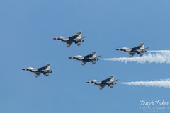 Five of diamonds formation U.S. Air Force Thunderbirds