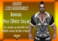Bandada - Polo (White Collar) (By: C. D'carlo) Tags: new hot male men mesh body enzo polo aesthetic niramyth