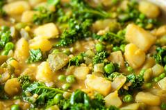 Potato kale curry closeup (tessascotolson) Tags: curry kale