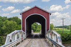 Wolf Covered Bridge (Larry Senalik) Tags: county bridge canon river illinois wolf unitedstates spoon 1999 replica covered knox dslr t3i 2015 maquon