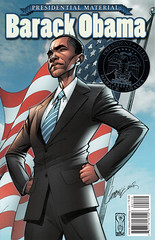 Barack Obama: Presidential Material (silver medalion) (FranMoff) Tags: comicbooks campbell barackobama jscottcampbell presidentialmaterial
