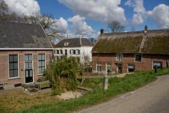 Waardenburg - zicht vanaf Waalbandijk (grotevriendelijkereus) Tags: holland netherlands town village nederland dijk dike dorp gelderland waardenburg