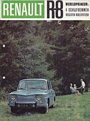 Renault 8 brochure 1962 (sjoerd.wijsman) Tags: auto cars car 8 voiture renault vehicle brochure 1962 fahrzeug r8 folleto prospekt renault8 carbrochure renaultr8 opuscolo brochura broschyr autobrochure