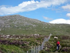 "Crossing a boggy plateau south of Aran Fawddwy • <a style=""font-size:0.8em;"" href=""http://www.flickr.com/photos/41849531@N04/19320396986/"" target=""_blank"">View on Flickr</a>"