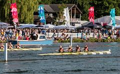 Women's Fours (ParmarC) Tags: people sport race river daylight boat women action outdoor flags rowing regatta henley