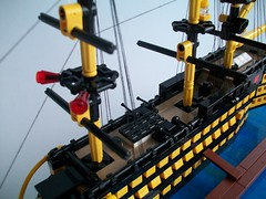 Little Victory (TechnicNick) Tags: ship lego victory warship hms microscale