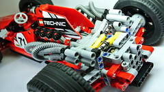 Lego Technic Formula One (MOC) (hajdekr) Tags: old motion car race speed vintage toy model automobile steering lego suspension engine f1 racing retro technic formulaone vehicle racers formula1 v8 racer racingcar differential supersport moc legotechnic myowncreation singleseater cardan monopost v8enginepistonconfiguration autoracingsport