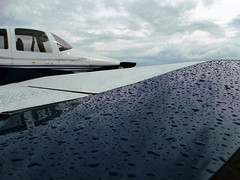 Raindrops are falling on my wing (Antnio A. Huergo de Carvalho) Tags: rain airplane aircraft aviation chuva vans aviao rv10 vansrv ppxnm