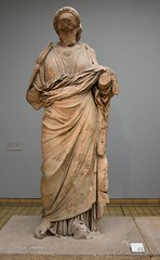 Statue of a woman from the Mausoleum, usually identified as Artemisia, wife of Maussolos, ca. 350 BCE (Prof. Mortel) Tags: london mausoleum britishmuseum artemisia halicarnassus