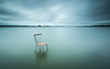 Sit down, let's talk!      [ explore 17|12|2016 ] (marcolemos71) Tags: seascape water hightide tagusriver chair minimalism sky clouds rain leefilters leesw150 leend09h leebigstopper trash longexposure marcolemos