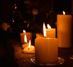 Candlelight (littlestschnauzer) Tags: church emley candlelight 2016 advent christmas xmas light flicker flame pillar