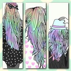 Phone background1 (@sunset_midnight) Tags: phone backround girl rainbow ombré