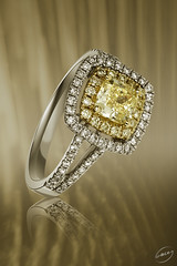 Coloured diamond ring (Mark A Lacey) Tags: coloured diamond ring
