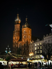"""Towers (Ania Mendrek) Tags: krakow poland cracow christmas winter foggy holidays visiting xmas christmasmarket city history architecture old town """"old town"""" """"main square"""" medieval square townhouses """"cloth hall"""" sukiennice """"town hall tower"""" tower monuments mariacki church """"mariacki church"""" """"st marys basilica"""" basilica"""