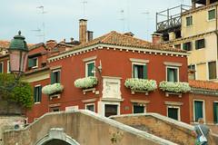 Venice, Italy (Ray Swann) Tags: venice italy canals gondolas houses