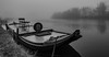 Boat'n'bench (Jorden Esser) Tags: bench benchmonday boat fog hbm tire water waterside nederlandvandaag hmm monochromemonday