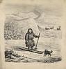 Tusjtegning med samisk motiv (National Library of Norway) Tags: nasjonalbiblioteket nationallibraryofnorway samer sami samiskkultur grafikk hunder ski skiing skigåere dogs reinsdyr reindeer