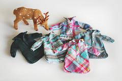 Five Blythe blouses & a curious deer