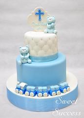 Baptismal Cake (sweetsuccess888) Tags: sweetsuccess cake baptismalcake christeningcake babyboy bear train philippines