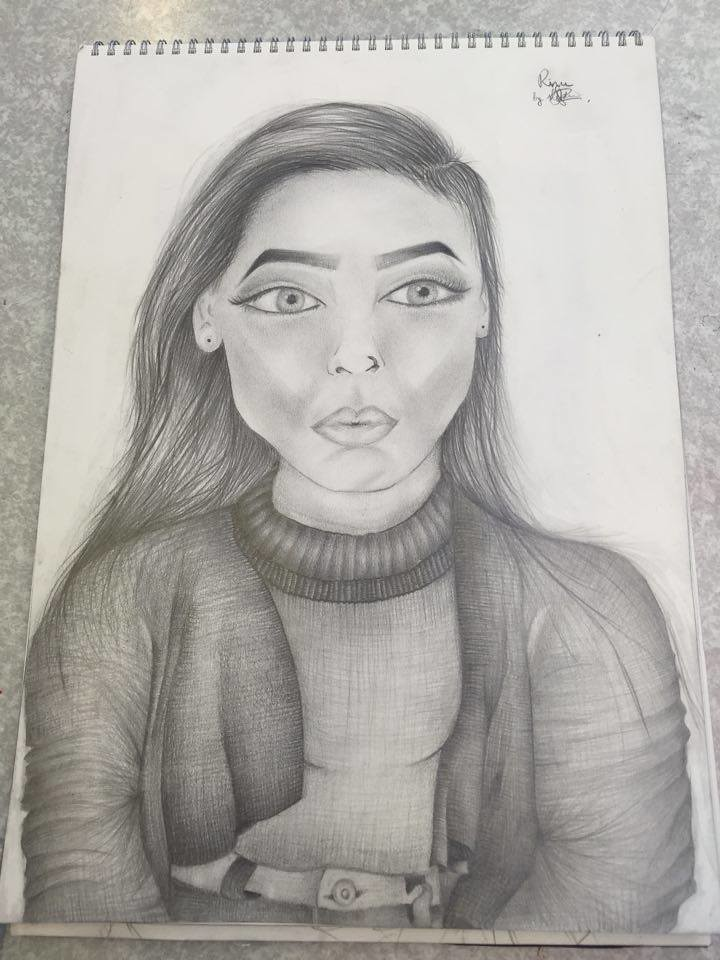 Person Drawing With Pencil