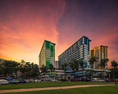 Layer Cake (Scintt) Tags: singapore rochor centre hdb housing estate enbloc demolished old iconic history colourful rainbow colours buildings architecture skyline city cityscape bugis field path apartments public tall structure skyscraper sky clouds glow light sunset epic dramatic surreal orange golden yellow burn travel tourism exploration urban modern sony a7r canon 17mm tilit shift tse scintillation scintt jon chiang photography