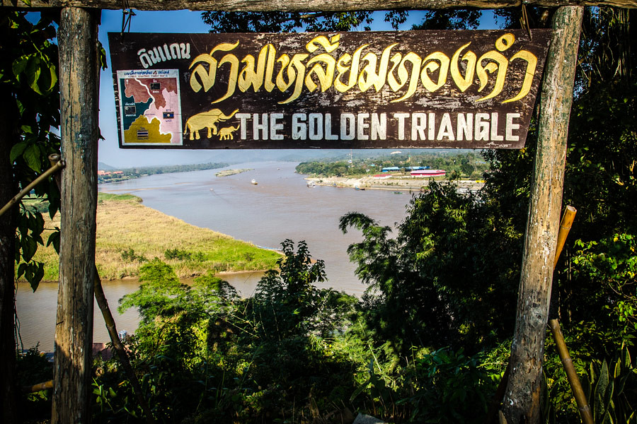 The infamous Golden Triangle borders Thailand, Laos and Myanmar