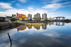Puente Transbordador - La Boca Buenos Aires in Argentina (Christine's Phillips (Christine's observations)) Tags: laboca argentina buenosaires caminito southamerica travelexplore happiness christinephillips longexposure water puentetransbordador transportbridge old colour vibrant magical