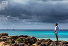 El observador (Andres Breijo http://andresbreijo.com) Tags: mar sea orilla coastline coast costa isla island formentera baleares balearic españa spain hombre man humano human tormenta storm agua water