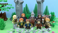 The LEGO Fellowship of the ring (Alex THELEGOFAN) Tags: lego legography minifigures minifig minifigure minifigs minifigurine movie minifigurines the lord of ring frodo baggins samwise gamgee gandalf grey pippin merry legolas hobbit forrest tree column rock trees plant gimli dwarf boromir aragorn community fellowship