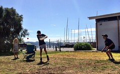 The rules of backyard cricket - Sandy Bay.