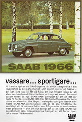 SAAB 96 (1966) (andreboeni) Tags: classic car automobile cars automobiles voiitures autos automobili classique voiture retro auto oldtimer klassik classico classica advert advertising advertisement publicity saab 96 saab96 twostroke 2stroke