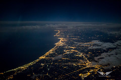 Italy's Adriatic coast from above (gc232) Tags: adriatic sea coast italy italia night sigma 35 35mm f14 art lens low light highiso aviation avgeek live from flight deck golfcharlie232 fly flying aerial altitude overview