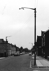 Bolton High Street (J_Piks) Tags: lampposts england street monochrome bw bolton lancashire streetlights streetlighting