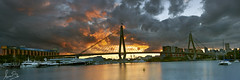 Anzac Bridge on Fire
