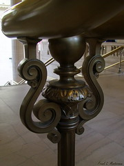 "Ornate Baluster (""Just an ol' nature boy takin' a picture"") Tags: railroad chicago building history architecture stairs train support steps handrail unionstation baluster"