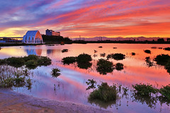 ()Watercolor (Singer ) Tags: light shadow sky cloud lake reflection architecture composition sunrise canon river watercolor iso100 glow f14 taiwan silhouettes 24mm       wetland  longexpose oneshot        4sec                  crystalchurch  canon6d   canonef2470mmf28liiusm c  singer singer186    nr