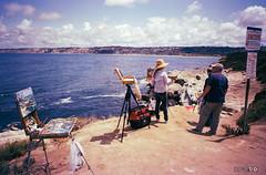 Painters at La Jolla Cove (Taomeister) Tags: california painting xpro cove crossprocess lajolla painters expiredfilm fujichromerd fujifilmnaturas19black