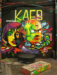Kaes (surreyblonde) Tags: uk urban streetart london art canon graffiti robot letters tags spray southbank waterloo heat characters walls cans graff robotic kaes g15 automatron waterlootunnel banksytunnel surreyblonde