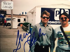 #48A-103, NASCAR, Busch, Tresy Lesley (Picture Proof Autographs) Tags: fredweichmannfrederickweichmann photograph photographs inperson pictureproof photoproof picture photo proof image images collector collectors collection collections collectible collectibles classic session sessions authentic authenticated real genuine sign signed signing sigature sigatures auto autos vehicles vehicle model automobile automobiles driver drivers autoracing sport sports nascar winstoncup sprint cup busch nationwide craftsman campingworld xfinity truck series dodge charger intrepid ford thunderbird chevy lumina montecarlo pontiac grandprix taurus autographes autographed autograph fred frederick weichmann fredweichmann frederickweichmann