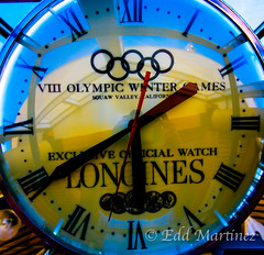 Squaw Valley Time (eddm1962) Tags: clock time timepiece squawvalley olympics longines clockface winterolympics olympictime