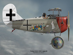 G31 Fokker-DVII-ss (flyingshamrockart) Tags: airplane caricature veteran
