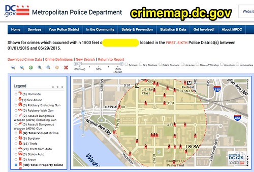 Crime Map in Washington D.C. by Wesley Fryer, on Flickr