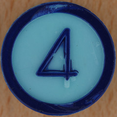 Colour Bingo blue number 4 (Leo Reynolds) Tags: xleol30x squaredcircle xsquarex number numberset numberbingo bingo lotto loto houseyhousey housey housiehousie housie onedigit 4 four sqset117 grouponedigit canon eos 40d xx2015xx
